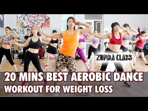 20 mins best aerobic dance workout for weight loss l
