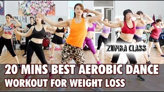 20 mins Best Aerobic dance workout for weight loss l Aerobic dance workout full video for beginners