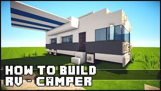 Minecraft Vehicle Tutorial - How to Build : RV / Camper