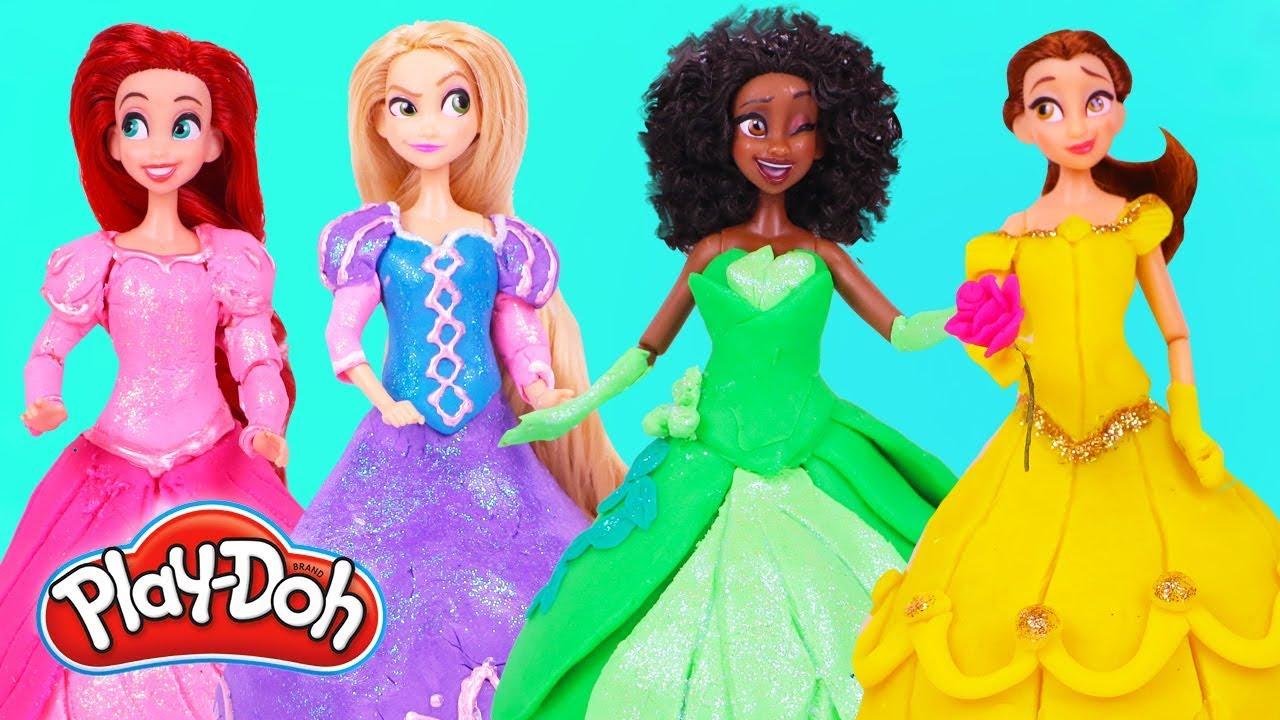 Vestidos De Princesas Disney Con Plastilina Play Doh Juguetes Y Transformaciones Fantásticas