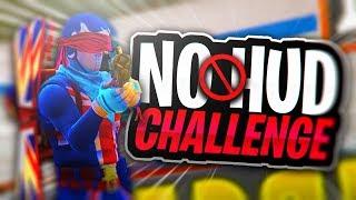 NO CROSSHAIR CHALLENGE in Fortnite: Battle Royale! (No HUD Challenge)
