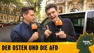 Warum wählt man die AfD? Lutz van der Horst und Fabian Köster fahren Richtung Ostopia! | heute-show
