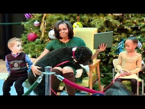 Michelle Obama and Bo The Dog - Hilarious