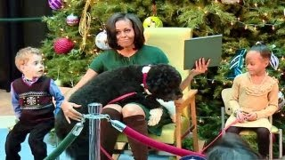 Michelle Obama and Bo The Dog  Hilarious