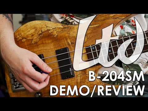 ESP LTD B-204 Bass Demo/Review