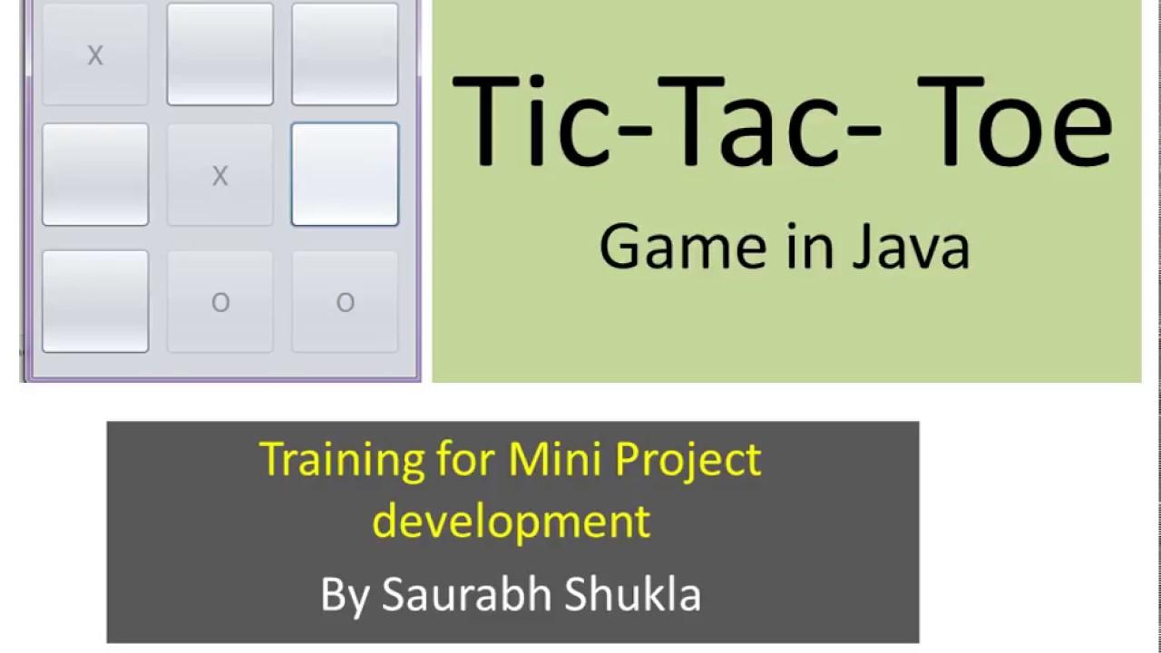 Tic Tac Toe GUI Game in Java - MySirG Com