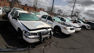 Abandoned Police Impound Yard - Found REAL Crime Scene Evidence!!