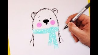 How To Draw A Cute Winder Bear