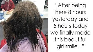 Salon Refused To Shave Off Depressed Girls Knotty Hair – Gives Her Makeover Of A lifetime Instead