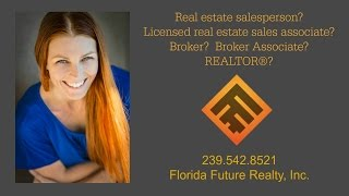 Real Estate Sales Associate vs Real Estate Broker vs REALTOR®