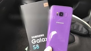 The GALAXY S8 - PURPLE COLOUR's FIRST LOOK!