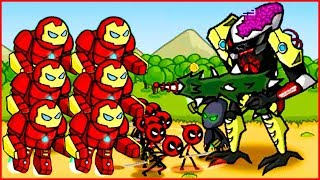 Игра про супергероев спайдермена, халка, бэтмена и других HERO WARS Super Stickman Defense