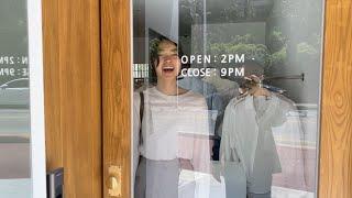 여름코디❣ 골지니트티 와이드슬랙스 | 사색 쇼핑몰 촬영…