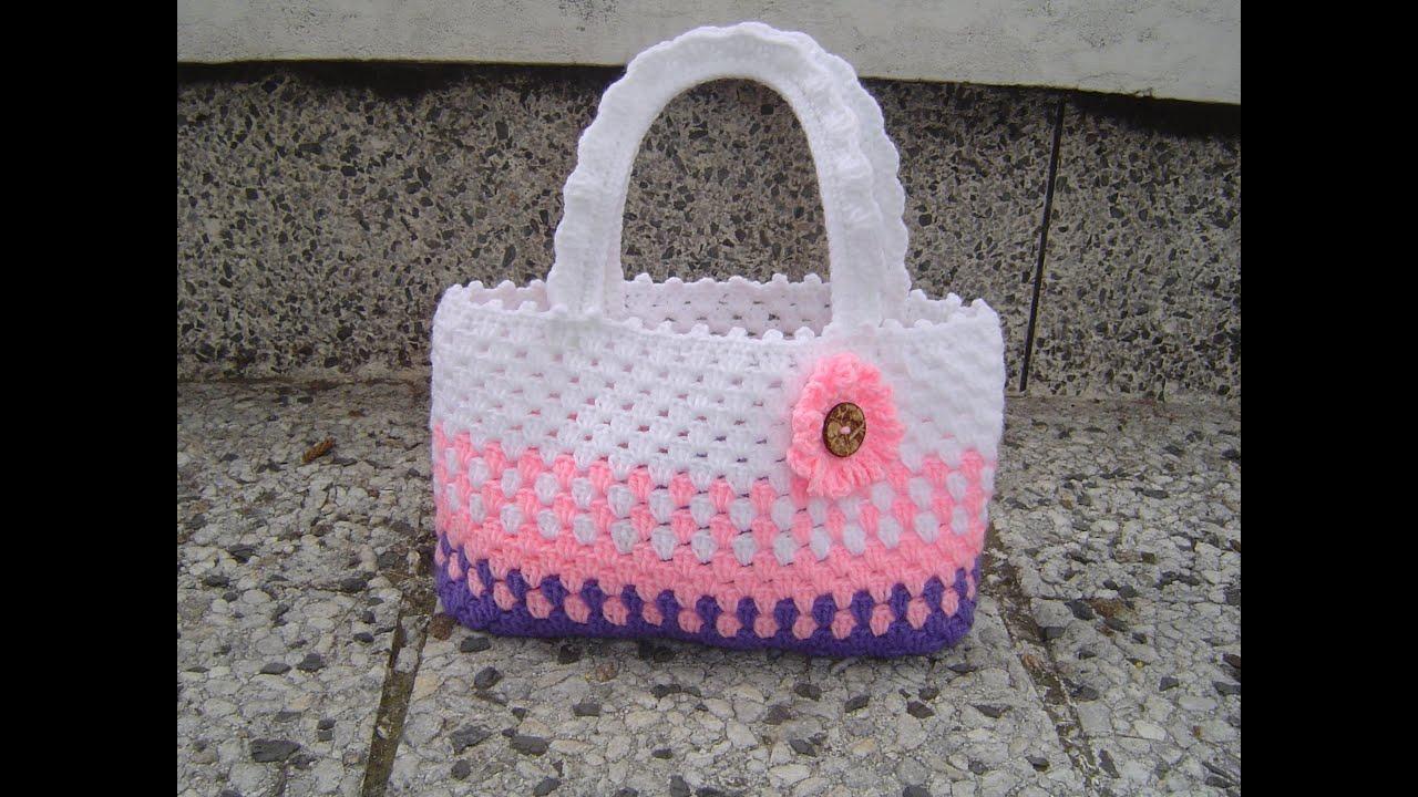 en venta amplia selección de colores y diseños disfruta de un gran descuento Como tejer cartera o bolso para niña en crochet paso a paso
