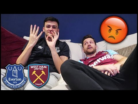 WATCHING EVERTON VS WEST HAM WITH HASHTAG HARRY