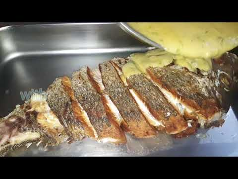 Fried Fish With Creamy Garlic And Lemon Sauce
