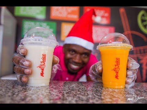 Makoye kijana aliye acha  ajira na kuuza Juice, Mastaa na watu mashuhuri wanapenda juice yake.