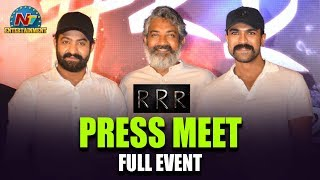 RRR Movie Press Meet | Jr NTR | Ram Charan | SS Rajamouli | NTV Entertainment