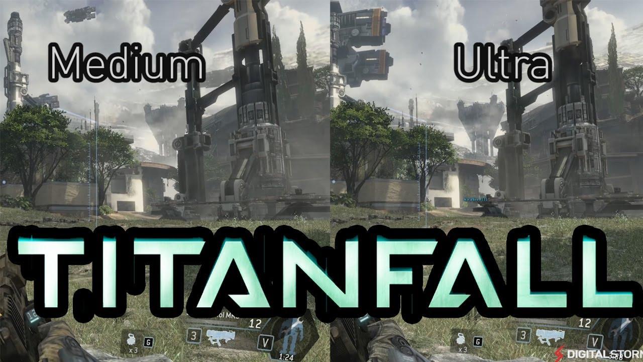 Titanfall Graphics Comparison: Ultra, Medium, Low