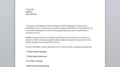 Sample proposal for janitorial services and commercial cleaning estimate