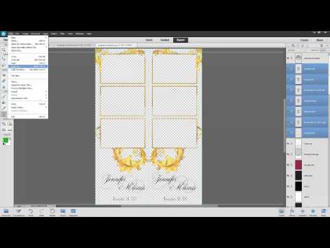 Photoshop Elements Saving Template Assets