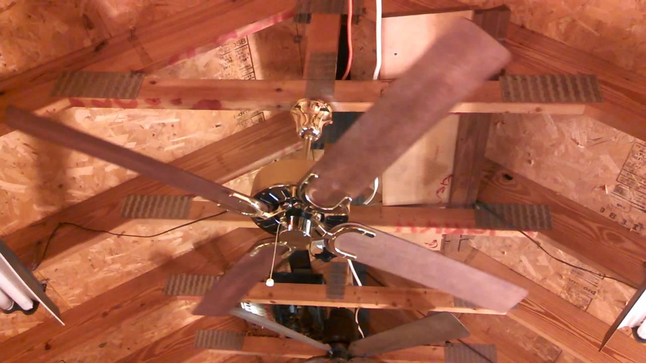 Panama Fan Co Gear Driven Ceiling Fan Youtube