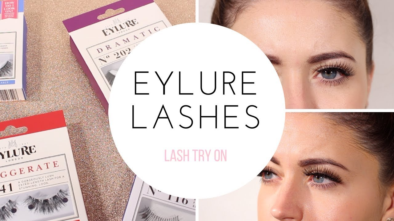 57875f382fa BEST SELLING EYLURE LASHES TRY ON - YouTube