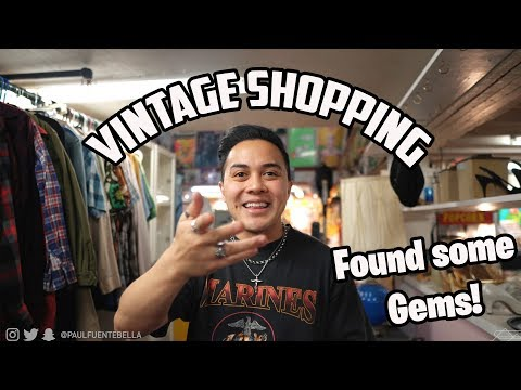Come VINTAGE SHOPPING With Me  (Tees, Denim, Giveaway And More!)