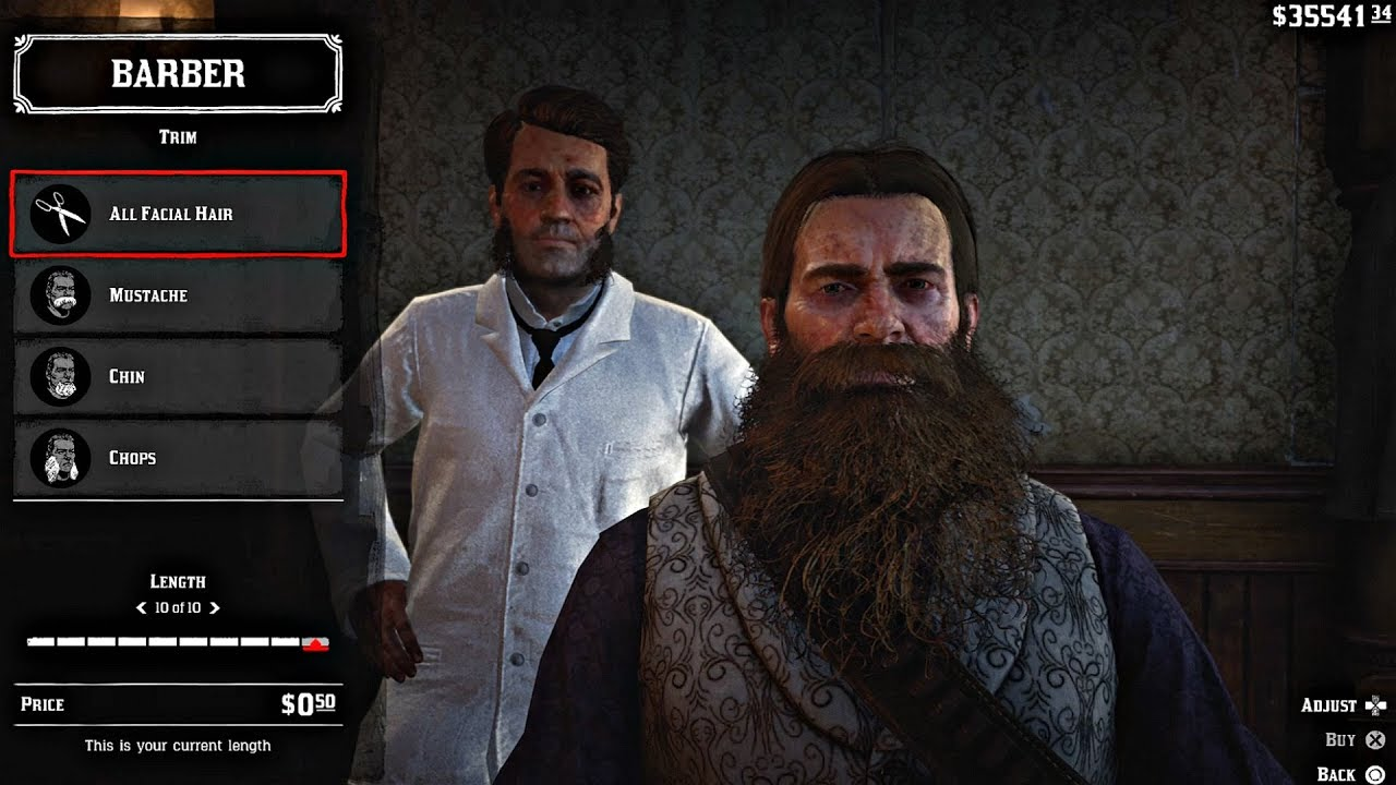 Red Dead Redemption 2 Arthur Max Length Hair Beard Barber Visit All Styles Rdr2 2018 Youtube
