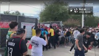 Crowd swarms to get past gates at NRG Park for Travis Scotts Astroworld festival