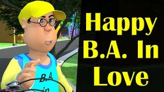 Happy B. A. In Love || Happy Sheru || Witziger Cartoon-Animation || MH One
