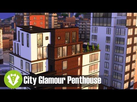 City Glamour Penthouse l Sims 4 House Build
