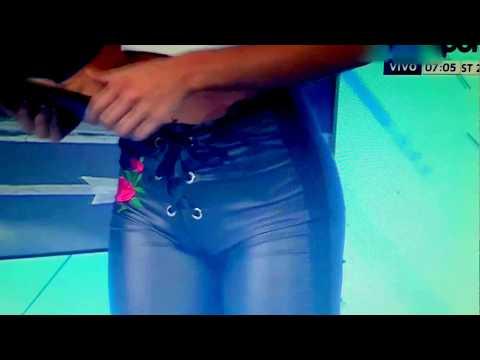 Maria Sol muy sexy encuerinada en TyC Sport. Leather Pants! thumbnail