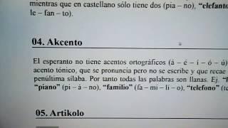 Segunda clase de #Esperanto