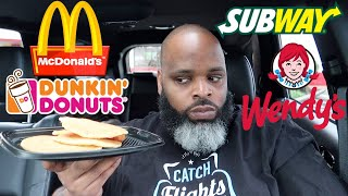 Letting The Person in Front of Me DECIDE What I Eat for 24 HOURS! (Drive Thru Challenge #8)
