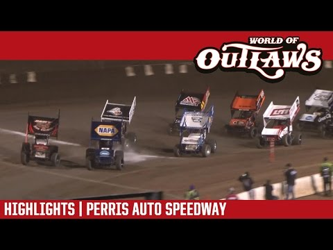 World of Outlaws Craftsman Sprint Cars Perris Auto Speedway April 1, 2017 | HIGHLIGHTS