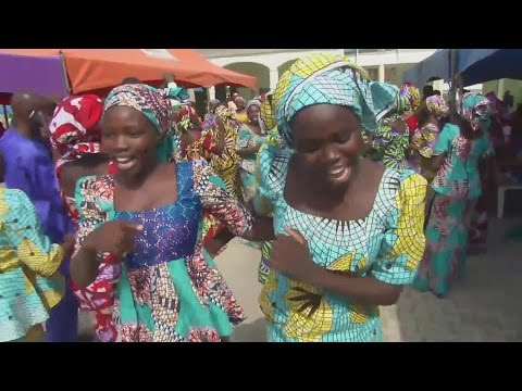 Joyful reunion for 82 Chibok school girls released by Boko Haram