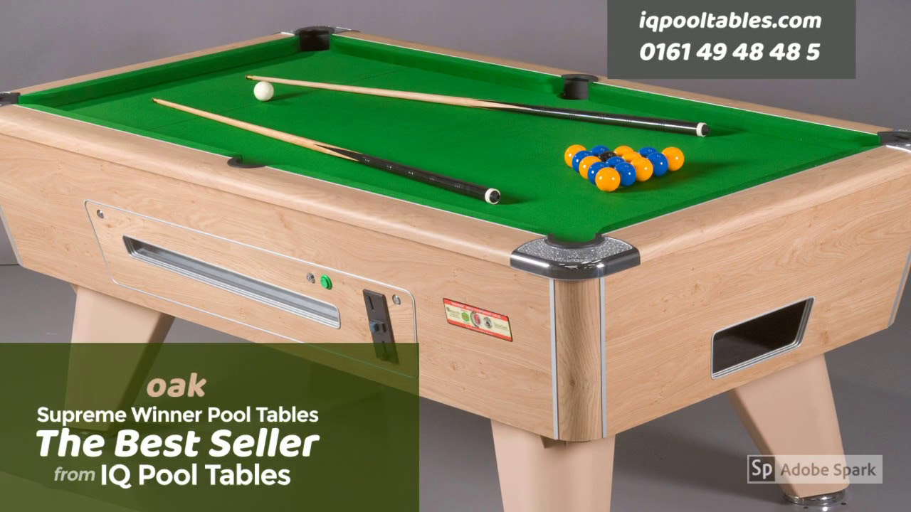 Supreme Winner Pool Table Showcase From Iq The Specialists