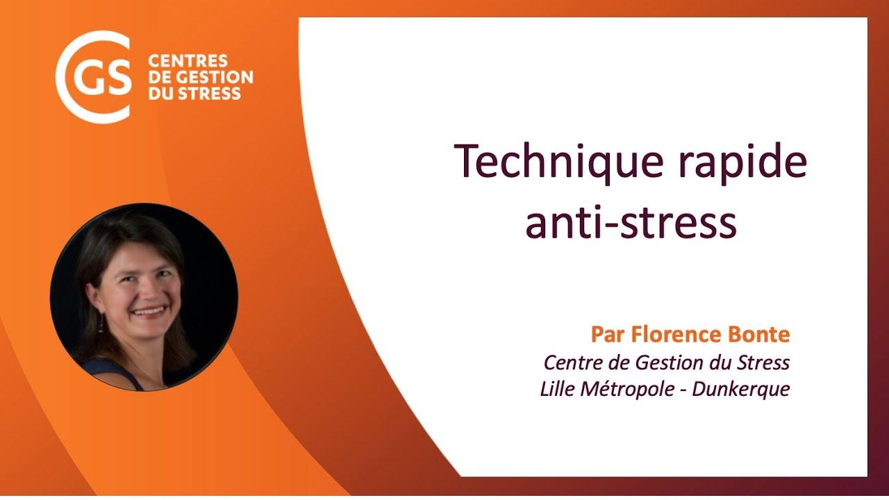 Technique rapide pour réguler son stress!