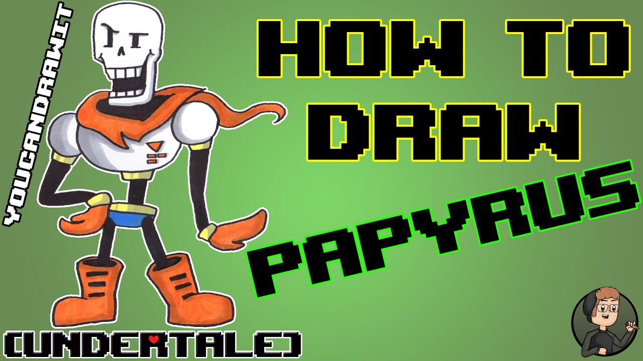 How To Draw Papyrus From Undertale Youcandrawit ツ 1080p Hd