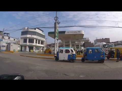 Lima Peru Street View Taxi Ride Lima Sights - ESL British English Pronunciation