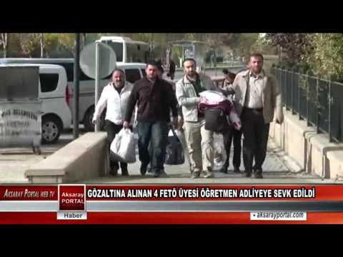 Gözaltına Alınan 4 Fetö Üyesi Öğretmen Adliyeye Sevk Edildi