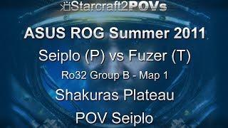 SC2 WoL - ASUS ROG Summer 2011 - Seiplo vs Fuzer - Ro32 Group B - Map 1 - Shakuras Plateau - Seiplo