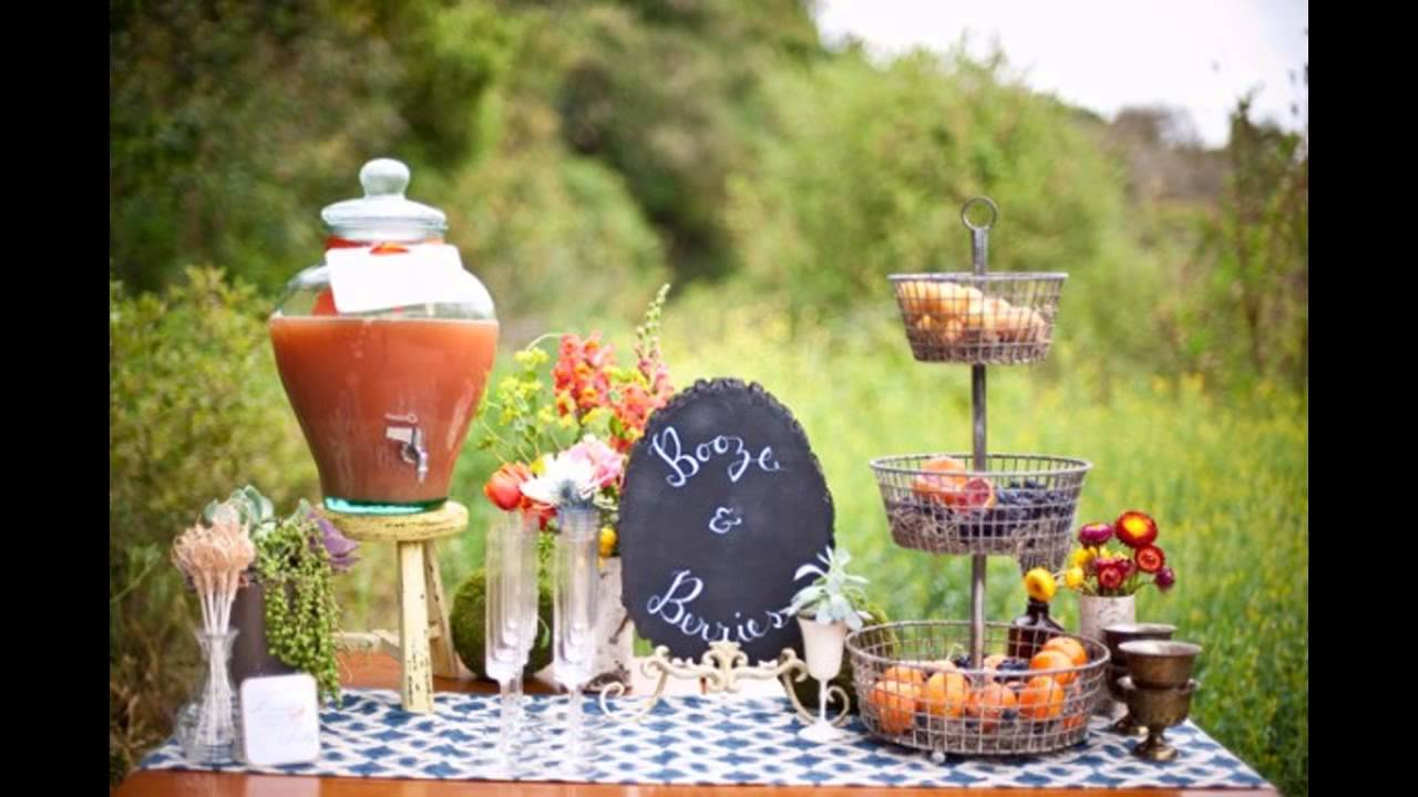 Garden party theme decorations ideas - YouTube