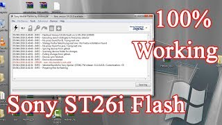 Sony Experia J ST26i Flash And Install 100% Working |
