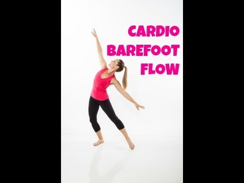40 Minute Cardio Barefoot Flow - Full Length Low Impact Quiet Cardio Home Workout