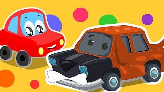 Little Red Car Rhymes - Dog Song | Animals Songs | Car Rhymes