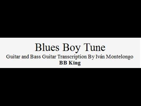 Blues Boy Tune - BB King Guitar and Guitar Bass transcription by Iván Montelongo