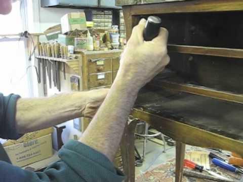 - Veneer Repair - Thomas Johnson Antique Furniture Restoration - YouTube