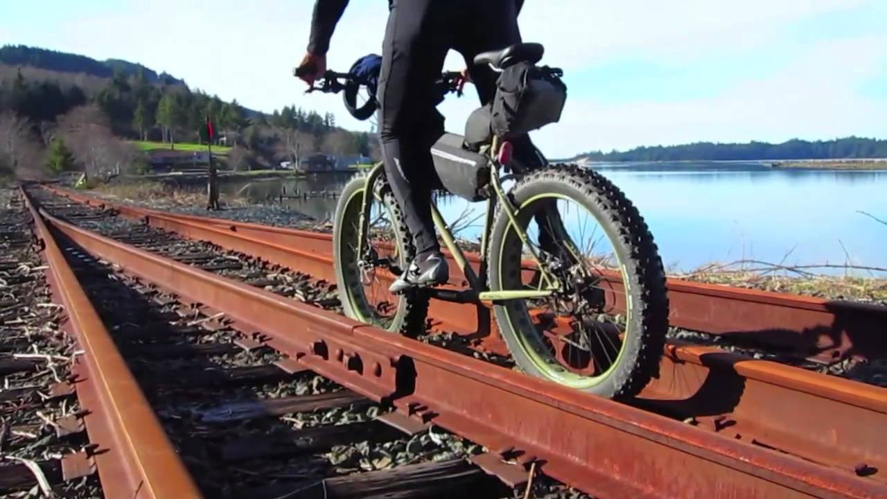 Fat Bike Trails On Oregon Coast Scenic Railway Near Wheeler Youtube